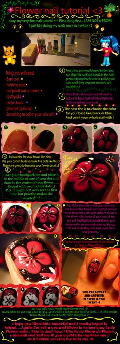 Flower nail tutorial by ~Darklinknrone