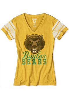 Baylor Bears Women's Gold Vintage Short Sleeve Shirt http://www.rallyhouse.com/shop/baylor-bears-4752133 $34.99