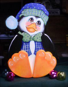 Christmas seasonal Penguin decoration Handmade and hand