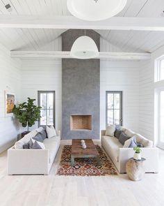 Living Room Grey, Living Room Interior, Living Rooms, Living Spaces, Family Rooms, Kids Rooms, Modern Farmhouse, Farmhouse Decor, Farmhouse Design