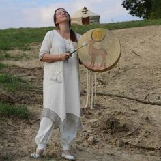 A Hungarian female shaman drumming. Drummers, Ancestry, Witches, Prayer, Therapy, Spirit, Female, Beautiful, Women