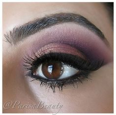 purple smokey eye look