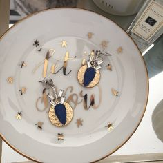 NWT Banana Republic Medallion Earrings Brand New spectacular mix of gold/silver sparkle/ cobalt !!!  These earrings transform any outfit!                                                                                    👯 Leave me comments or questions.                🎄 Gabes Holiday Pick just for you.                                 🔮 Make me an offer                                                  🎁 Great gift Banana Republic Jewelry Earrings