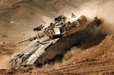 Merkava Mk 2 covered in dust