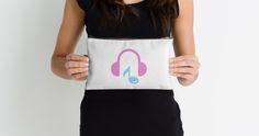 """Love Music"" Studio Pouches by bubbliciousart | Redbubble"