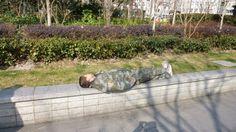 Sleeping in the afternoon sun in #Shanghai.