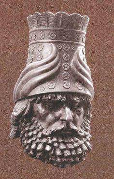 Assyrian Staues in Museums: Tiglath-Pileser,Assyrian King 745-727 BC