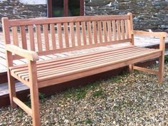 Teak Garden Bench - sustainable (is it really though?) £169-£240 3 sizes