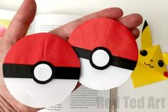 Pokeball Bookmark Corner - Fun with Pokemon Go