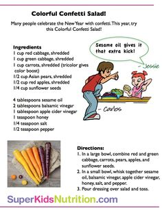 Celebrate the upcoming New Year with Confetti Salad! Get more meal time tips at: