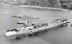 """The unfinished Japanese aircraft carrier """"Kasagi"""""""