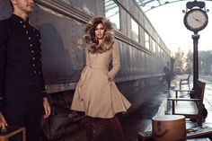 Irina Shayk poses in a train station for Bebe fall-winter 2015 campaign Photoshoot