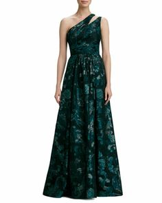 a672f546145 David Meister Signature One-Shoulder Print Gown