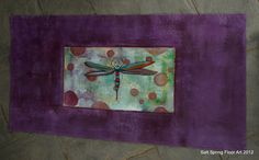 Hand Painted Canvas Floor Cloth Mat with Dragonfly - floor mat - housewares. $200.00, via Etsy.