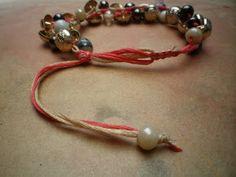 Tutorial: bohemian bracelet crochet pattern  #free #crochet #jewelry #diy #crafts