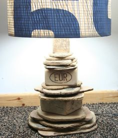 Driftwood Table Lamp,BASE ONLY 43 cm tall to top of base, Drift Wood Cornwall UK £95.00