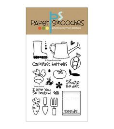 Paper Smooches Clear stamps Green ThumbPaper Smooches Clear stamps Green Thumb,