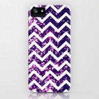 Purple Blur Sparkle Chevron iPhone Case by Rex Lambo | Society6