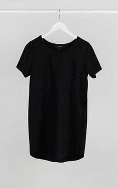 Suede Shift Dress- Black $50 with Free Shipping!