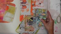 Watch the Process Art Journaling  - In His Hands