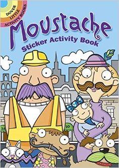 Moustache Sticker Activity Book