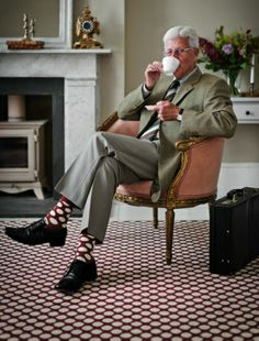 Sir, love the way your fab socks match the dotty floor!