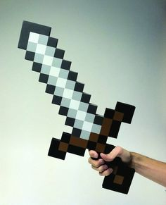 Minecraft Foam Sword - because safety comes first  http://www.coolgizmotoys.com/2012/01/minecraft-foam-sword.html