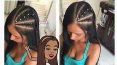 Peinados trenzados in 2020 Fast Hairstyles, Girl Hairstyles, Braided Hairstyles, Curly Hair Styles, Natural Hair Styles, Cool Braids, Girls Braids, Great Hair, Hair Hacks