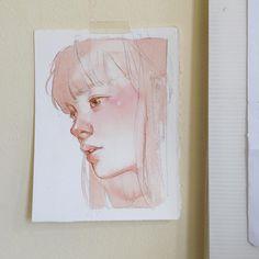 Мои закладки Art Inspo, Inspiration Art, Watercolor Artwork, Watercolor Portraits, Art Sketches, Art Drawings, Art Du Croquis, L'art Du Portrait, Art Anime