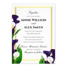 Wedding Rehearsal Invitations, Beautiful Wedding Invitations, Peony Colors, Calla Lily Wedding, 4th Of July Party, Caligraphy, Special Day, Purple, 4th Of July Nails