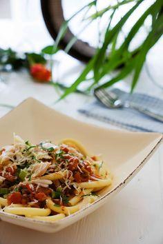 stuttgartcooking: Pasta mit schneller Tomaten-Sauce, geräuchertem Fo...