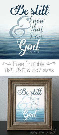 In only 8 words, God has spoken to some of the most crippling obstacles we will face. Be still and know that I am God. Lord And Savior, God Jesus, Encouragement Quotes, Bible Quotes, Bible Scriptures, Faith Quotes, God Is Good, Be Still And Know That I Am God, Printable Bible Verses