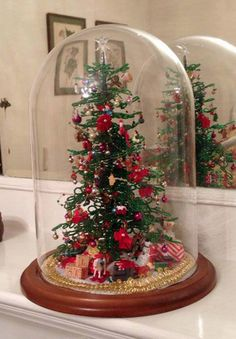 My Sister In Law Pat Did This Beauty. Miniature ChristmasWinter ChristmasChristmas  CraftsChristmas TreesChristmas ...