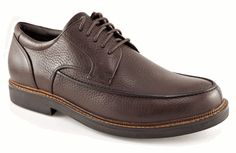 Aetrex Moc Toe Oxford Men's Shoe, ideal for those with arthritis and plantar fasciitis.