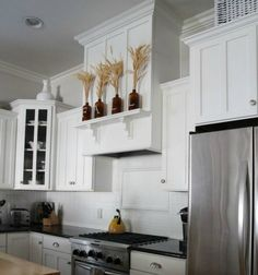 s fake a gorgeous built in kitchen with these 13 hacks, closet, kitchen design, Build a box around your stove hood
