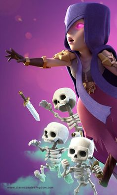 The Witch Clash Royale Wallpaper - Clash Royale Kingdom Android and iOS Clash Royale Hack Ch Coc Clash Of Clans, Clash Of Clans Hack, Clash Of Clans Free, Amoled Wallpapers, Gaming Wallpapers, Desenhos Clash Royale, Arte Marilyn Monroe, Geeks, Witch Wallpaper