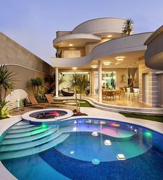 41 New Step By Step Roadmap For House Goals Mansions Dream Homes Luxury 35 House Rooms Luxury House Rooms iDeas Luxury Swimming Pools, Luxury Pools, Dream Home Design, Modern House Design, Amazing Architecture, Architecture Design, Dream Mansion, Luxury Homes Dream Houses, Dream Homes