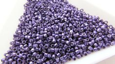 Miyuki Size Delica Beads by ArtyBeadsStore Beaded Jewelry, Handmade Jewelry, Blueberry, My Etsy Shop, Beads, Color, Embroidery, Group, Beautiful