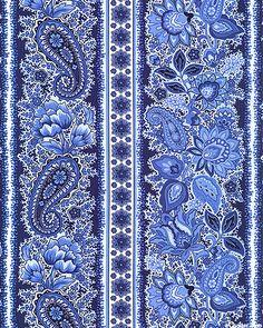 eQuilter Charlotte Spa - Jacobean Stripe - Royal Blue