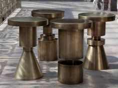 """""""I am a massive fan of Anna Karlin's work, and her brass-finished oversize chess piece stools swooned me."""" from Athena Calderone's 2014 Trend Forecast"""