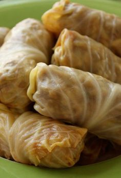 Polish Cabbage Rolls. Made with lean ground sirloin
