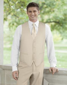With a less formal affair, there's no need for a full tuxedo. Create a contemporary three-piece formal look with an elegant matching vest. The Modern Jacketless Tan Style F252 is perfect for destination, spring, summer and outdoor weddings, as well as other less formal affairs.