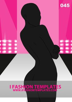 This is a back view fashion figure template with crossed arms. It is designed to help designers express swimwear and lingerie ideas as well as bare back dresses. Follow the curves of the body and create amazing designs. It is ideal for all types of bare back tops - think of ribbons, straps, cutouts!