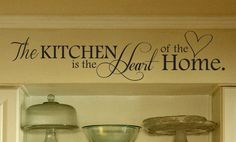 41x12 Kitchen Wall Decal Sticker - The Kitchen Is the Heart of The Home