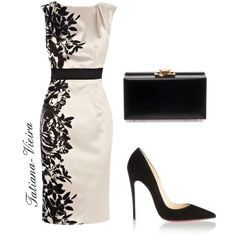 A fashion look from November 2013 featuring Coast dresses, Christian Louboutin pumps ve Yves Saint Laurent clutches. Browse and shop related looks. Komplette Outfits, Classy Outfits, Beautiful Outfits, Work Fashion, Fashion Looks, Kleidung Design, Mode Ootd, Mode Shoes, Pretty Dresses