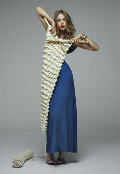 Couture knitting.  Photo by Kinya Ota.