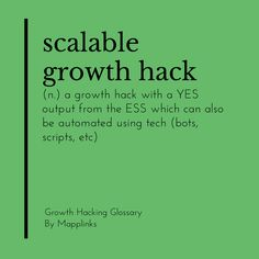 A growth hack with a YES output from the ESS which can also be automated using tech (bots, scripts, etc). Growth Hacking, Event Marketing, Scripts, Tech, Technology