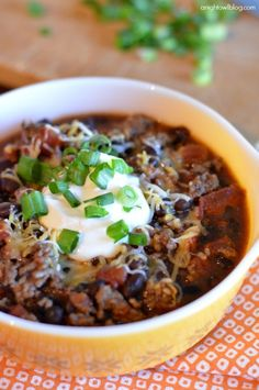 This Black Bean Chili is delicious and oh so easy! Great option for a quick, healthy meal!