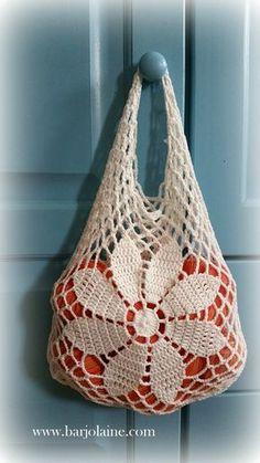 Crochet Home, Love Crochet, Crochet Flowers, Knit Crochet, Bag Pattern Free, Tote Pattern, Crochet Chart, Filet Crochet, Crochet Designs
