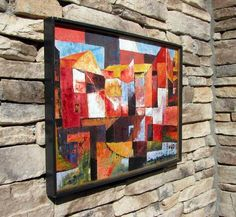 Beautiful Vintage Abstract Cubist Mid Century Modern Painting | eBay